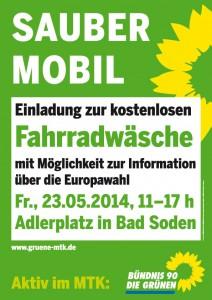 Gratiswäsche am 23.05. in Bad Soden